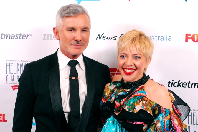 Australian director Baz Luhrmann and costume designer Catherine Martin at the Helpmann Awards 2014, Capitol Theatre, Sydney - Photographed by Whitney Duan