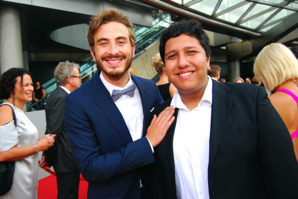 Actor Ryan Corr and journalist Eden Caceda at the 2015 ASTRA Awards, The Star, Sydney - Photographed by Whitney Duan