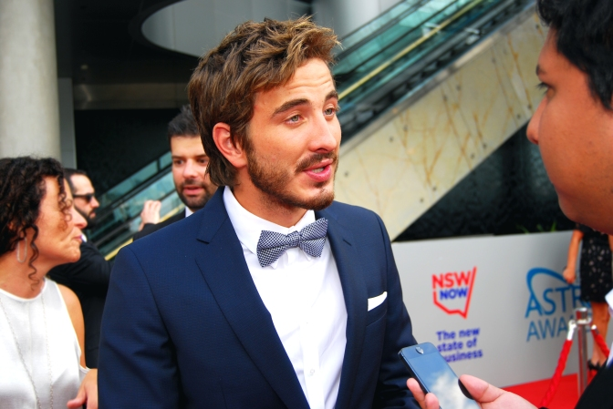 Actor Ryan Corr at the 2015 ASTRA Awards, The Star, Sydney - Photographed by Whitney Duan