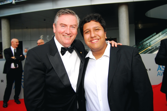 Eddie McGuire and Eden Caceda at the 2015 ASTRA Awards, The Star, Sydney - Photographed by Whitney Duan