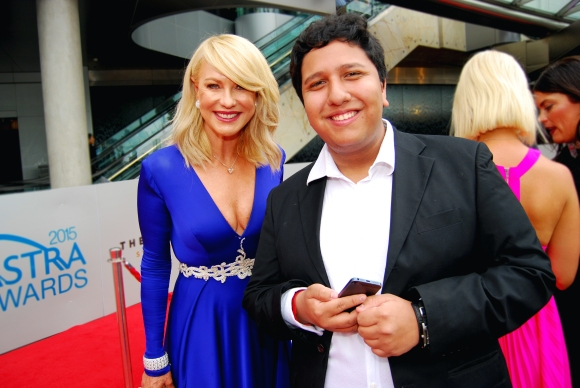Presenter Kerri-Anne Kennerley and Eden Caceda at the 2015 ASTRA Awards, The Star, Sydney - Photographed by Whitney Duan