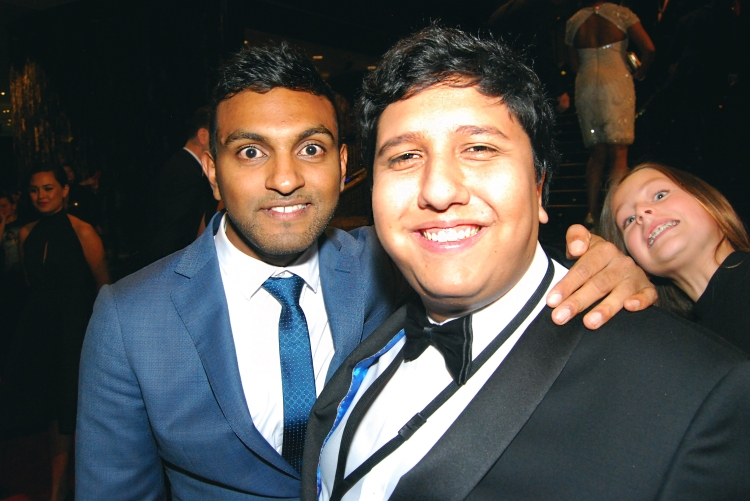 Comedian Nazeem Hussain and journalist Eden Caceda at the 2015 Logie Awards, Melbourne, Australia - Photographed by Whitney Duan