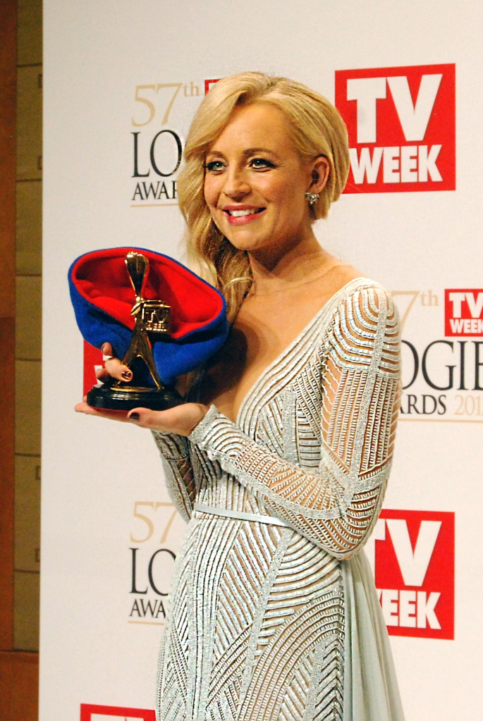 Gold Logie winner Carrie Bickmore at the 2015 Logie Awards, Melbourne, Australia - Photographed by Whitney Duan