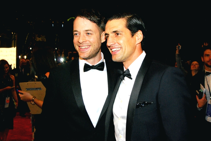 Hamish Blake and Andy Lee at the 2015 Logie Awards, Melbourne, Australia - Photographed by Whitney Duan