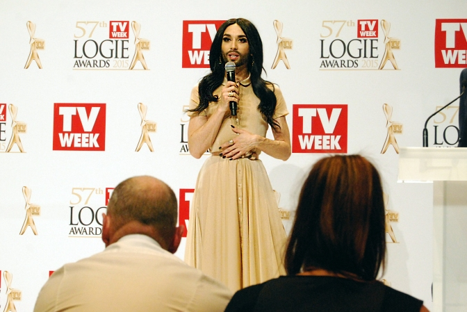 Logies presenter Conchita Wurst at the 2015 Logie Awards, Melbourne, Australia - Photographed by Whitney Duan