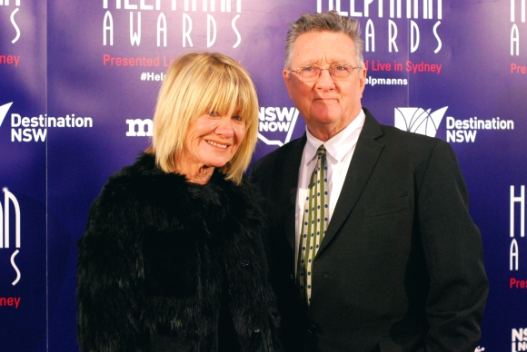 Margaret Pomeranz and Graeme Blundell at the 2015 Helpmann Awards, Capitol Theatre, Sydney - Photographed by Whitney Duan