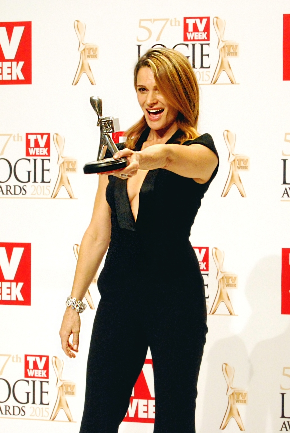Silver Logie winner Danielle Cormack at the 2015 Logie Awards, Melbourne, Australia - Photographed by Whitney Duan