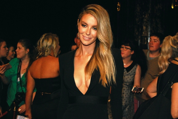 Supermodel Jennifer Hawkins wit Eden Caceda at the 2015 Logie Awards, Melbourne, Australia - Photographed by Whitney Duan