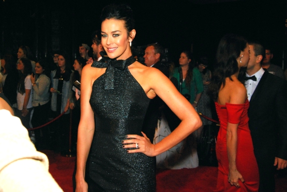 Supermodel Megan Gale with Eden Caceda at the 2015 Logie Awards, Melbourne, Pyrmont - Photographed by Whitney Duan