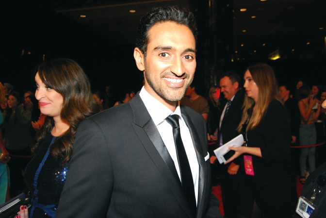Television host Waleed Aly with Eden Caceda at the 2015 Logie Awards, Melbourne, Australia - Photographed by Whitney Duan