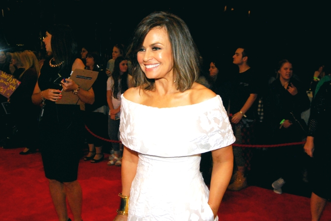Television presenter Lisa Wilkinson with Eden Caceda at the 2015 Logie Awards, Melbourne, Australia - Photographed by Whitney Duan