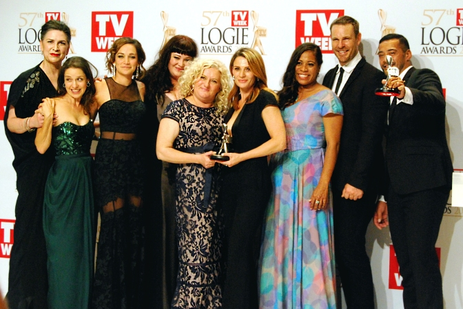 The cast of Logie winning Wentworth at the 2015 Logie Awards, Melbourne, Australia - Photographed by Whitney Duan